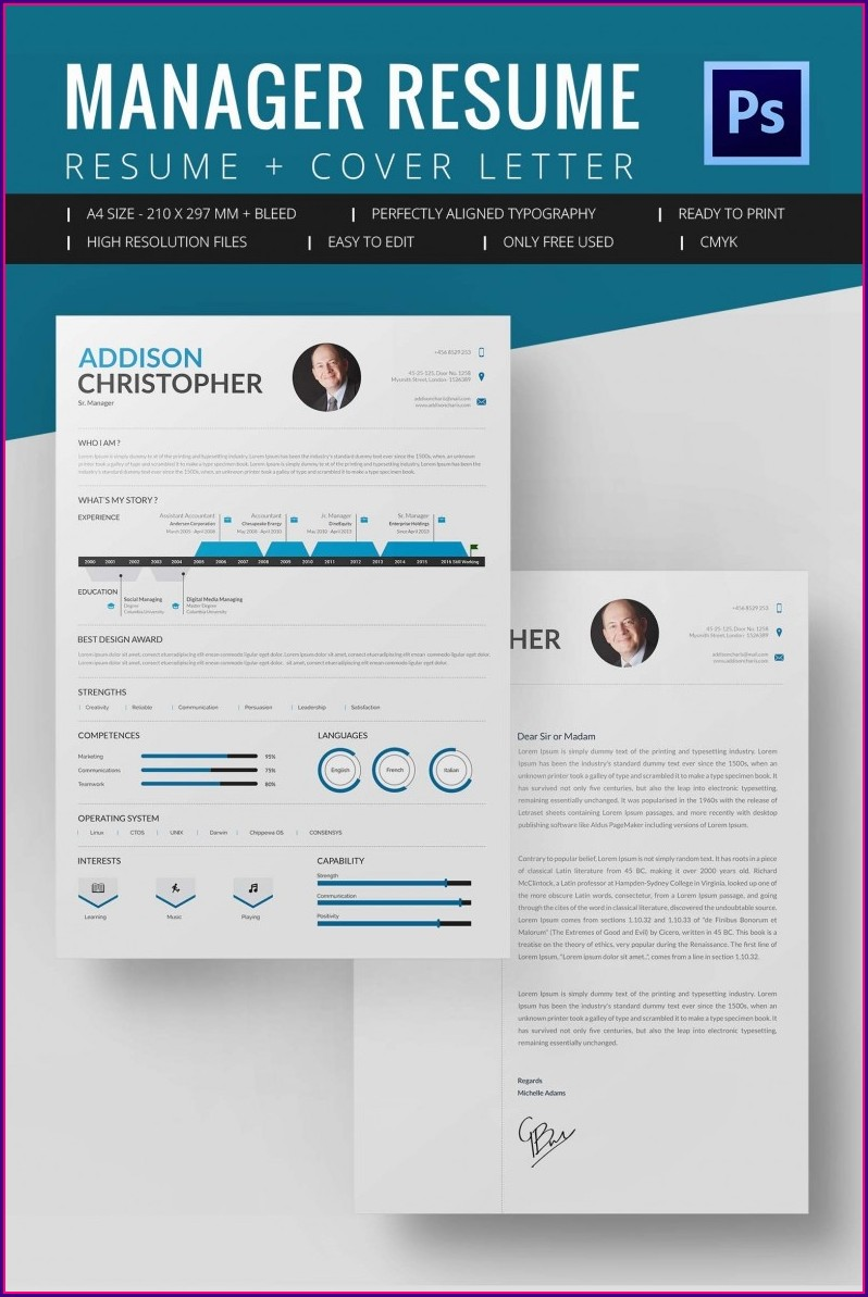 Free Manager Resume Template Microsoft Word