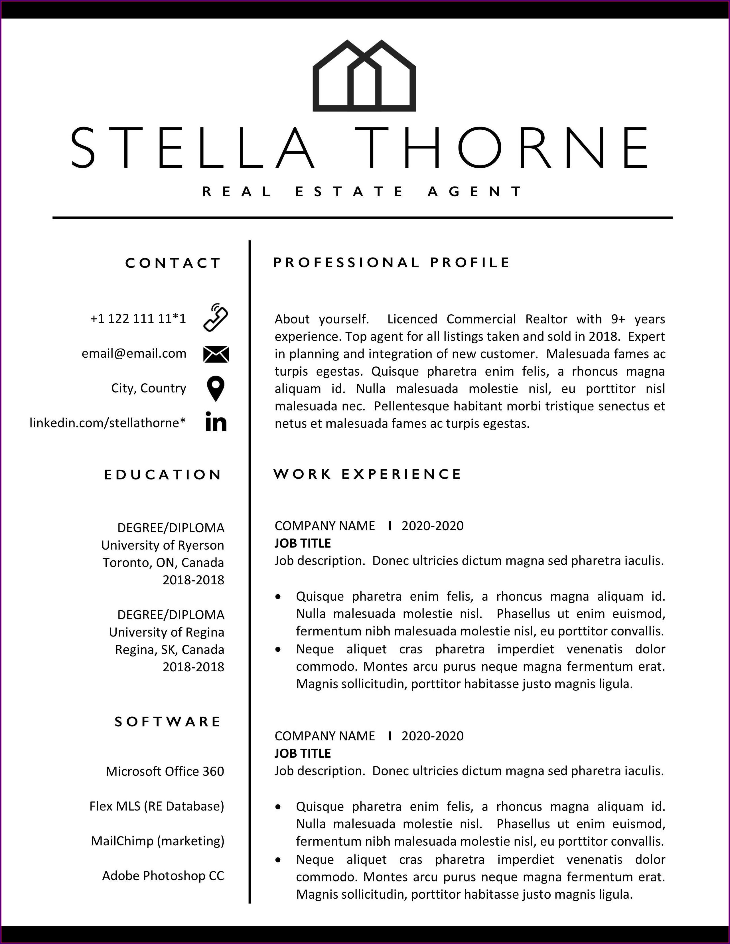 Free Manager Resume Templates 2018