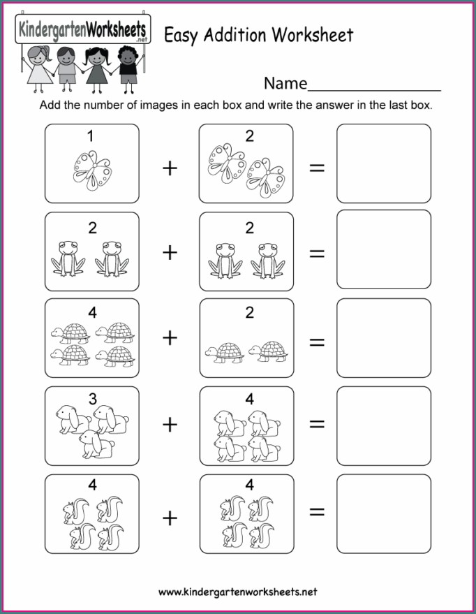 Free Math Addition Worksheets For Kindergarten