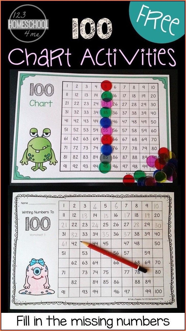 Free Math Worksheets Number Chart