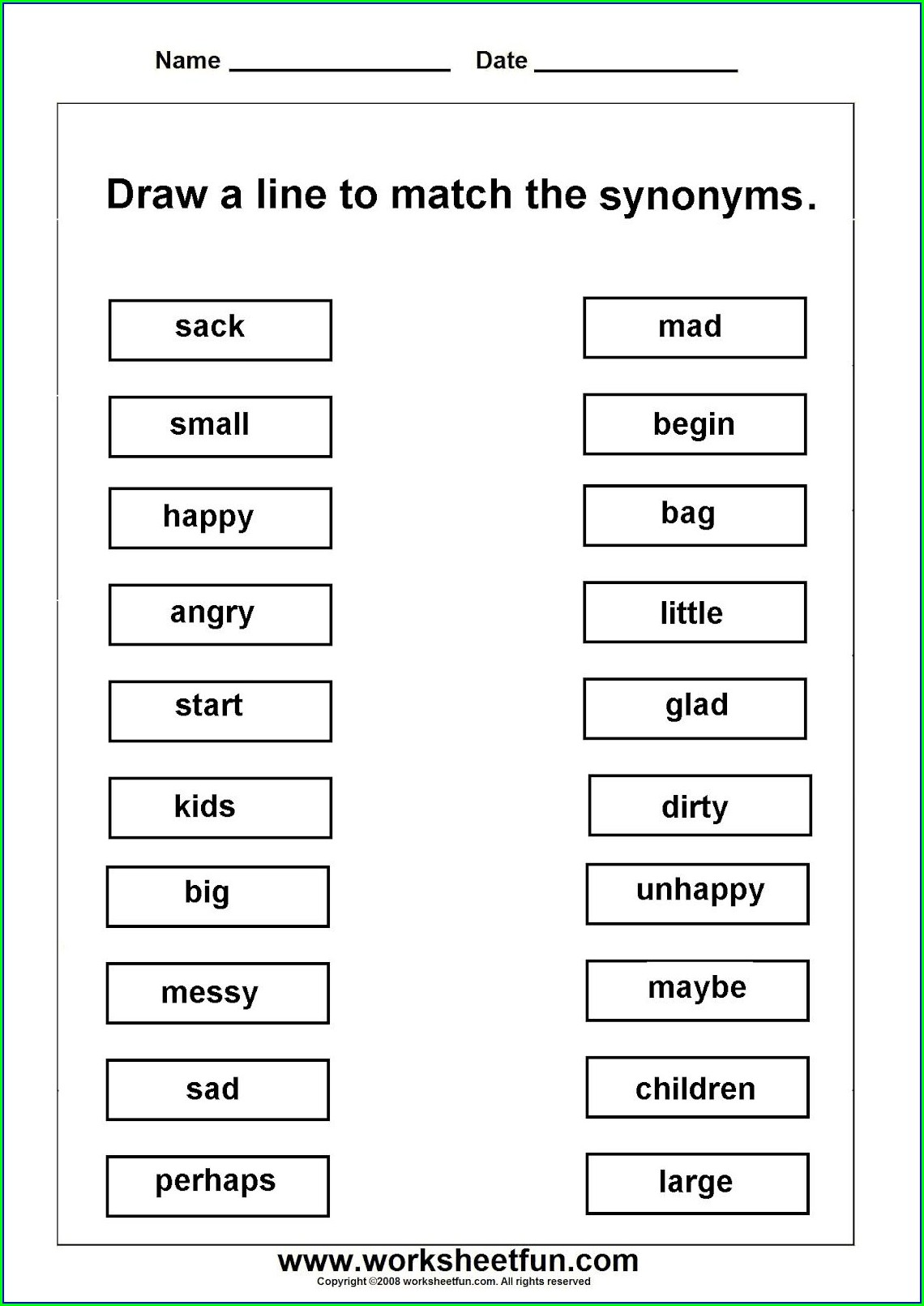 Free Printable 2nd Grade English Worksheets