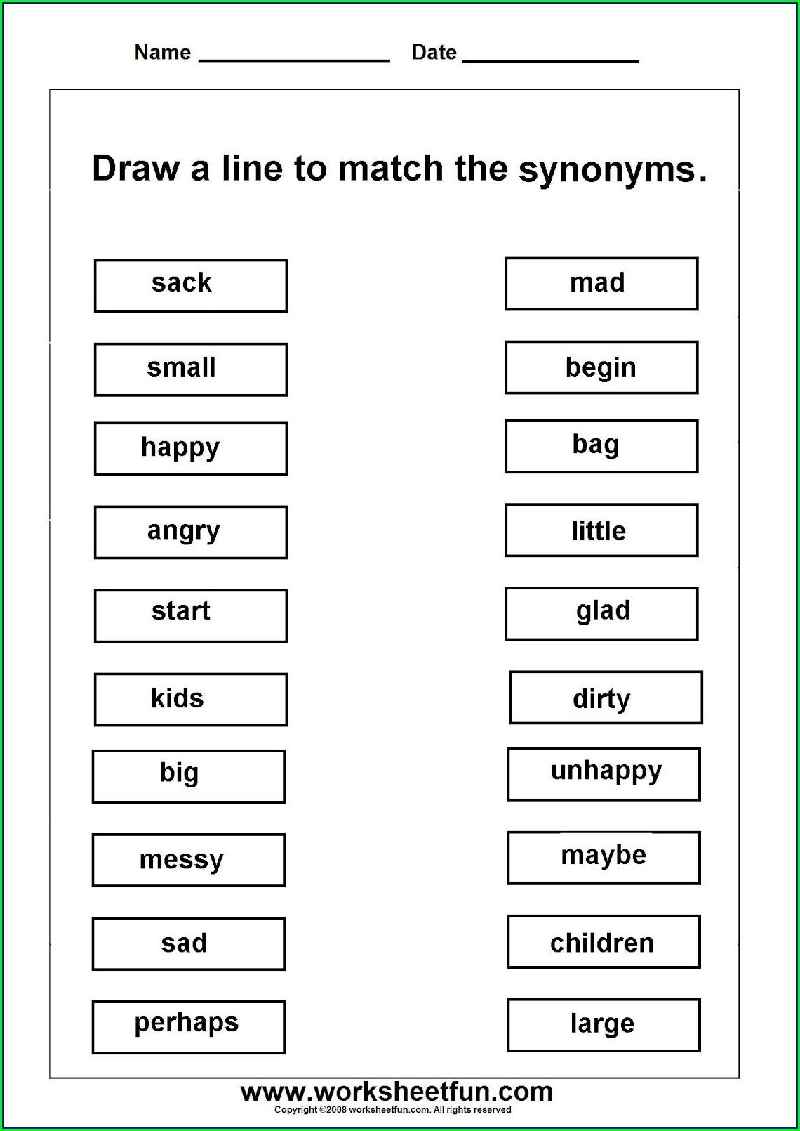 Free Printable 2nd Grade English Worksheets