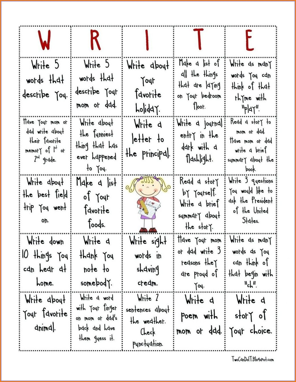 Free Printable 2nd Grade Handwriting Worksheets