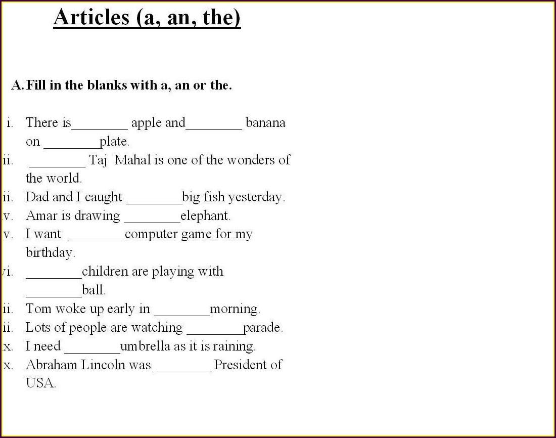 Free Printable 3rd Grade English Worksheets