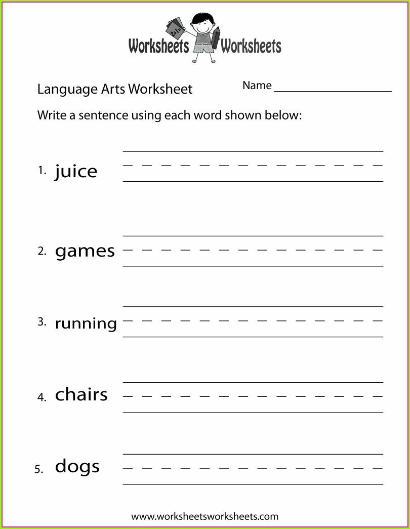 Free Printable 3rd Grade Language Arts Worksheets
