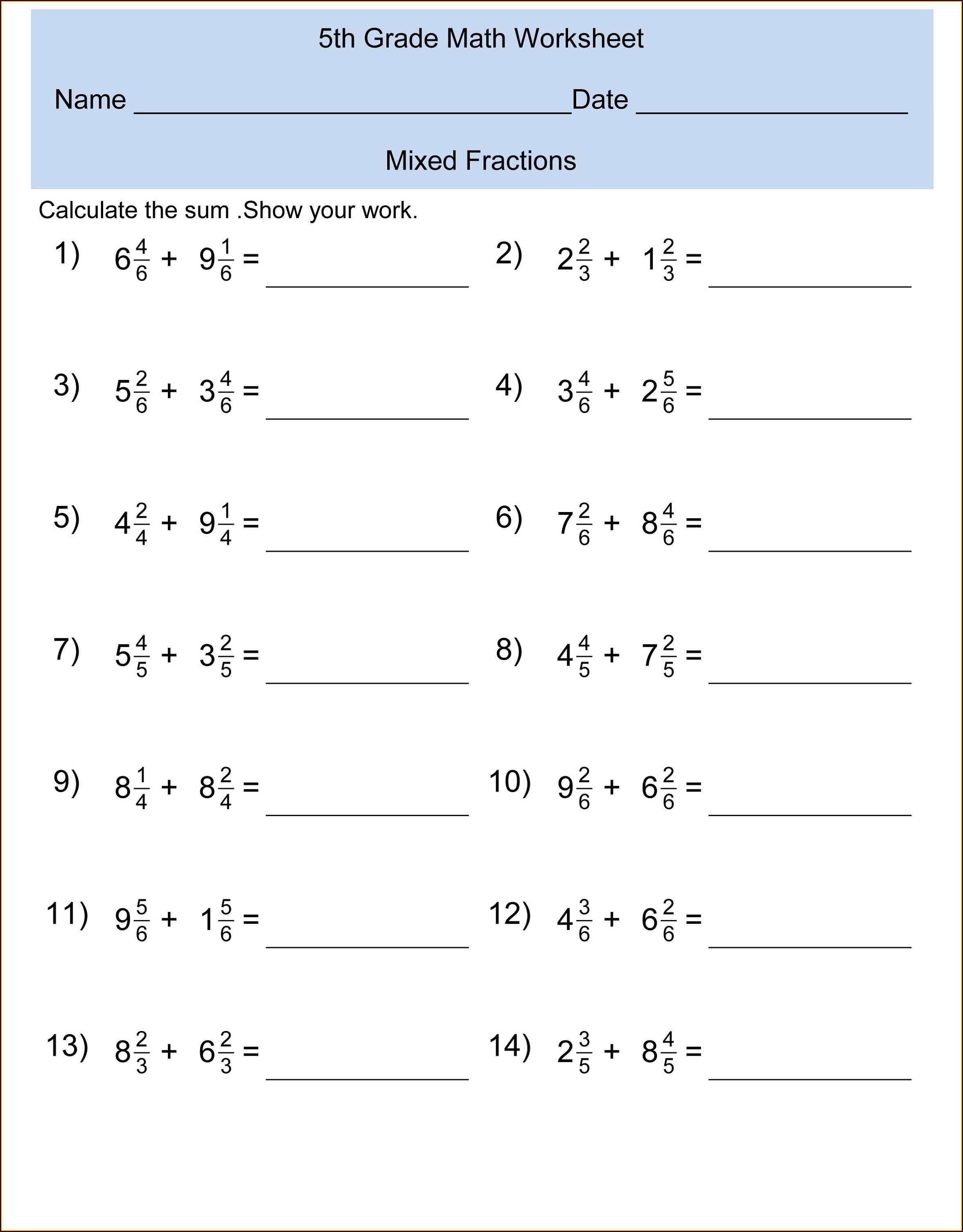 Free Printable Grammar Worksheets For 3rd Grade
