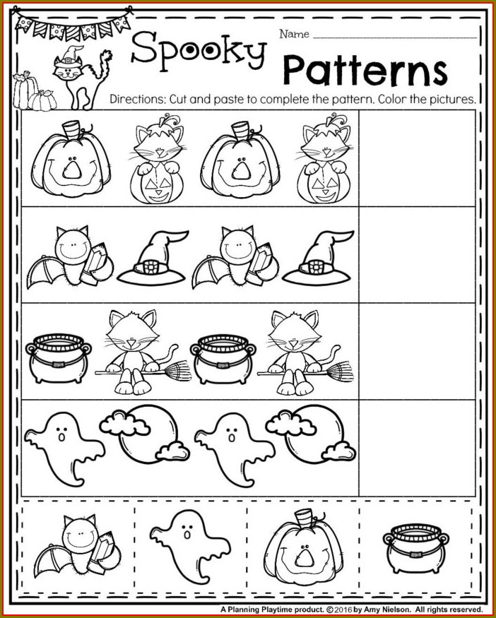 Free Printable Math Pattern Worksheets