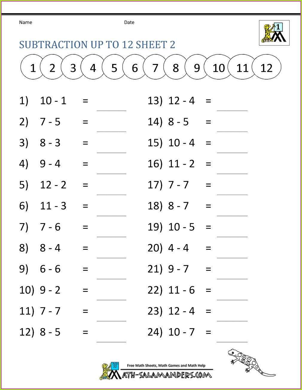 Free Printable Math Worksheet For 2nd Grade