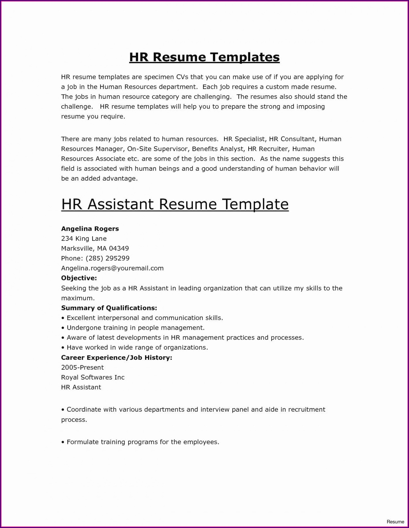 Free Printable Online Resume Templates