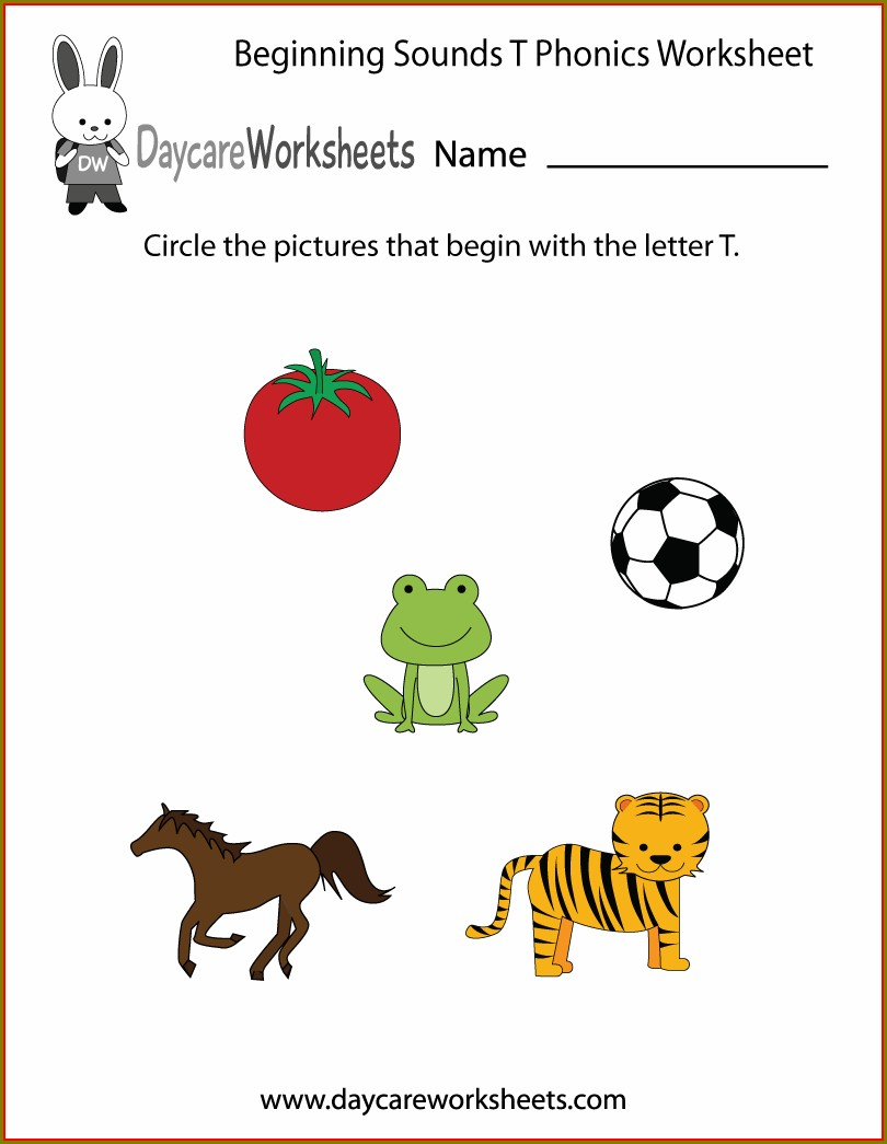 Free Printable Preschool Beginning Sounds Worksheet