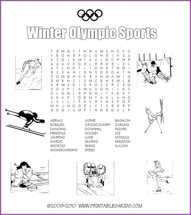 Free Printable Sports Word Search Puzzles