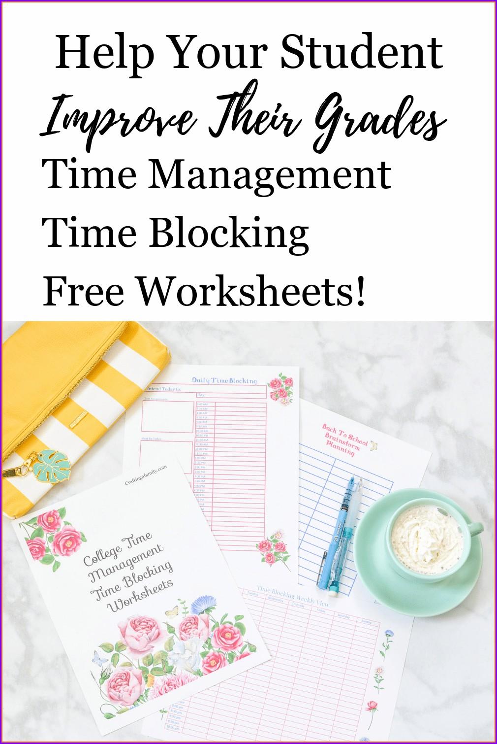 Free Printable Time Management Worksheets