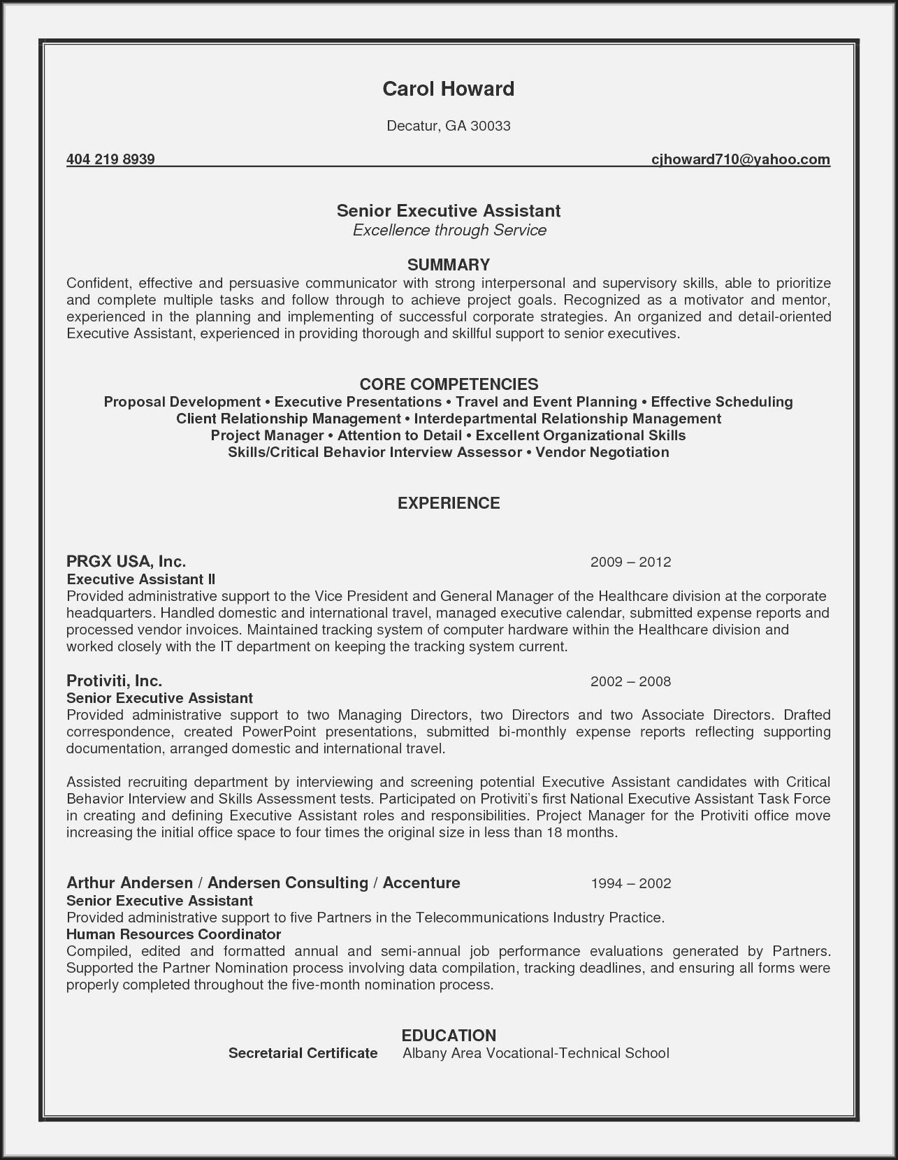 Free Resume Templates For Admin Assistant