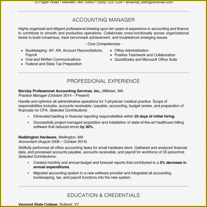 Free Resume Templates For Professionals