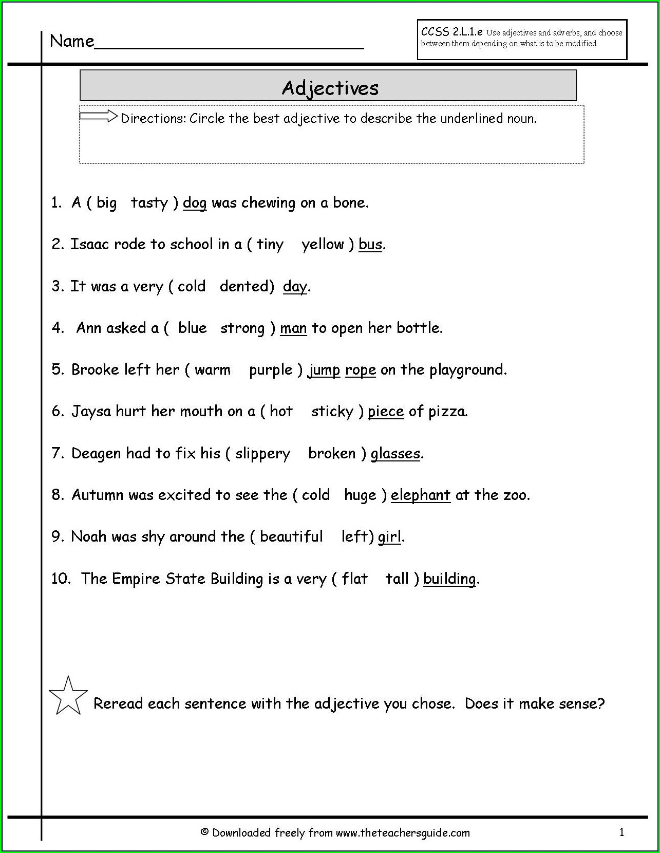Free Subject Verb Agreement Worksheets Middle School