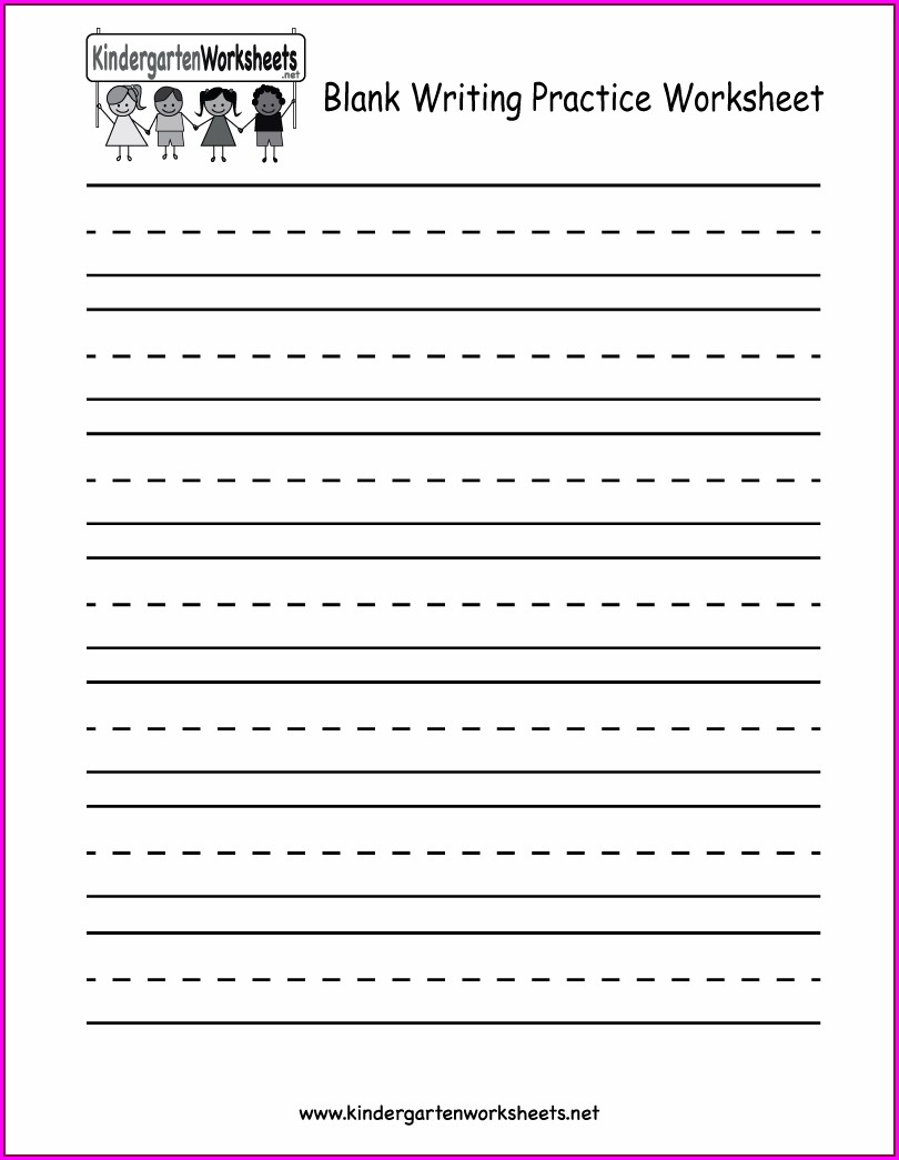 Free Worksheets For Kindergarten Writing