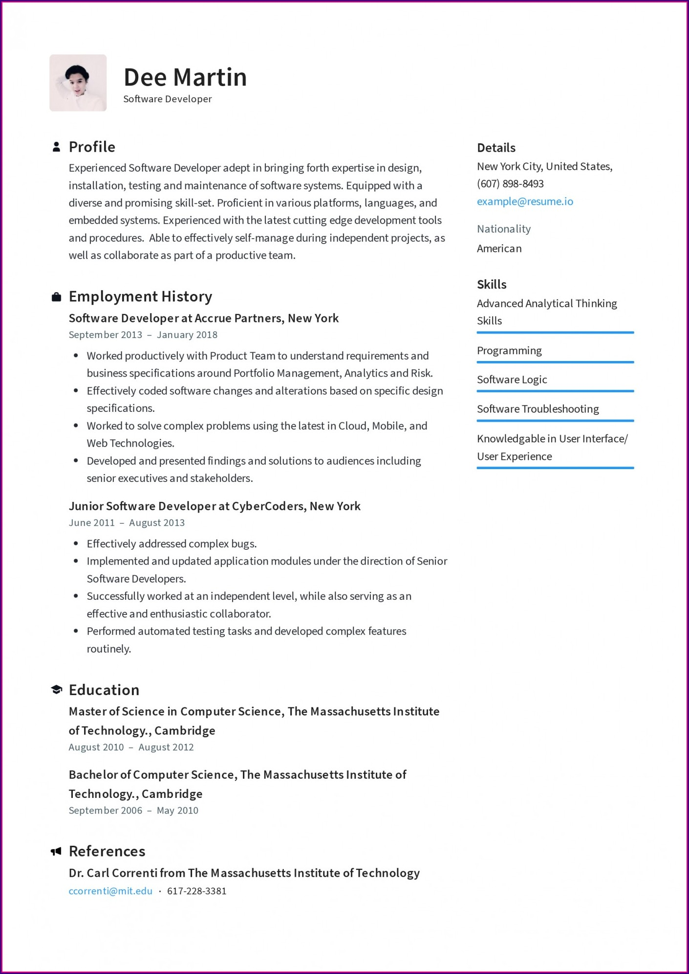 Fresher Resume Format Download Pdf