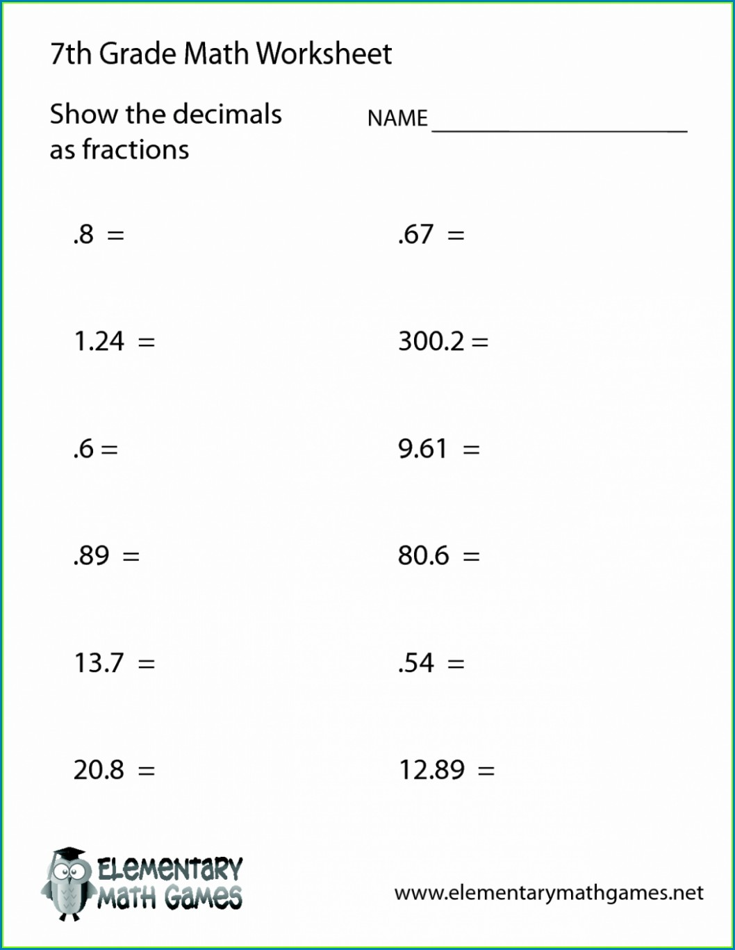 Fun Math Worksheets Ratios