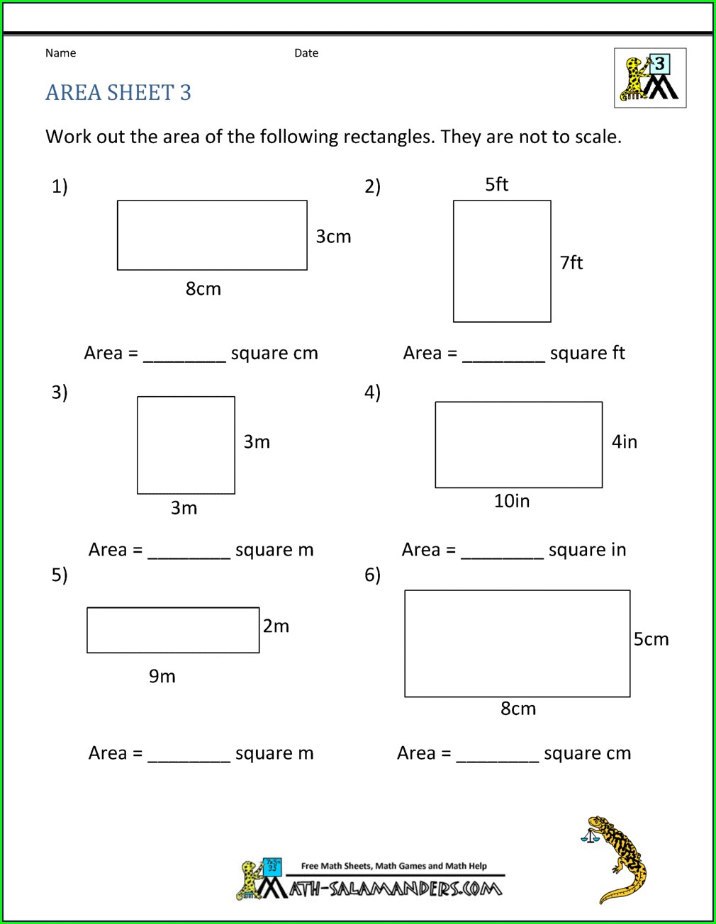 Geometry Worksheet 3rd Grade