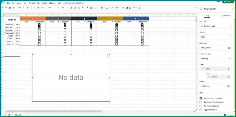Goal Setting Spreadsheet Template Download