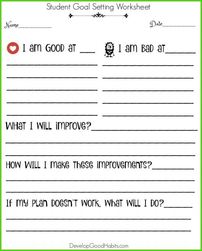 Goal Setting Spreadsheet Template