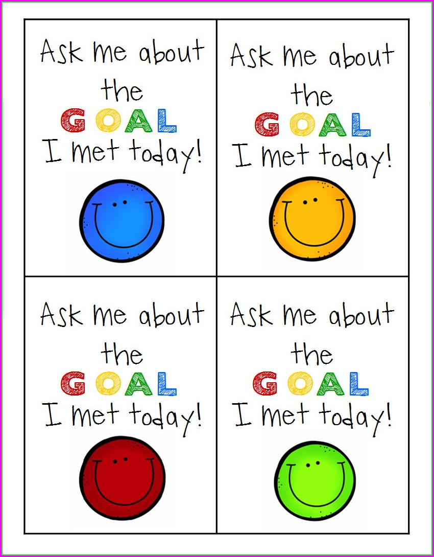 Goal Setting Worksheet For Primary Students