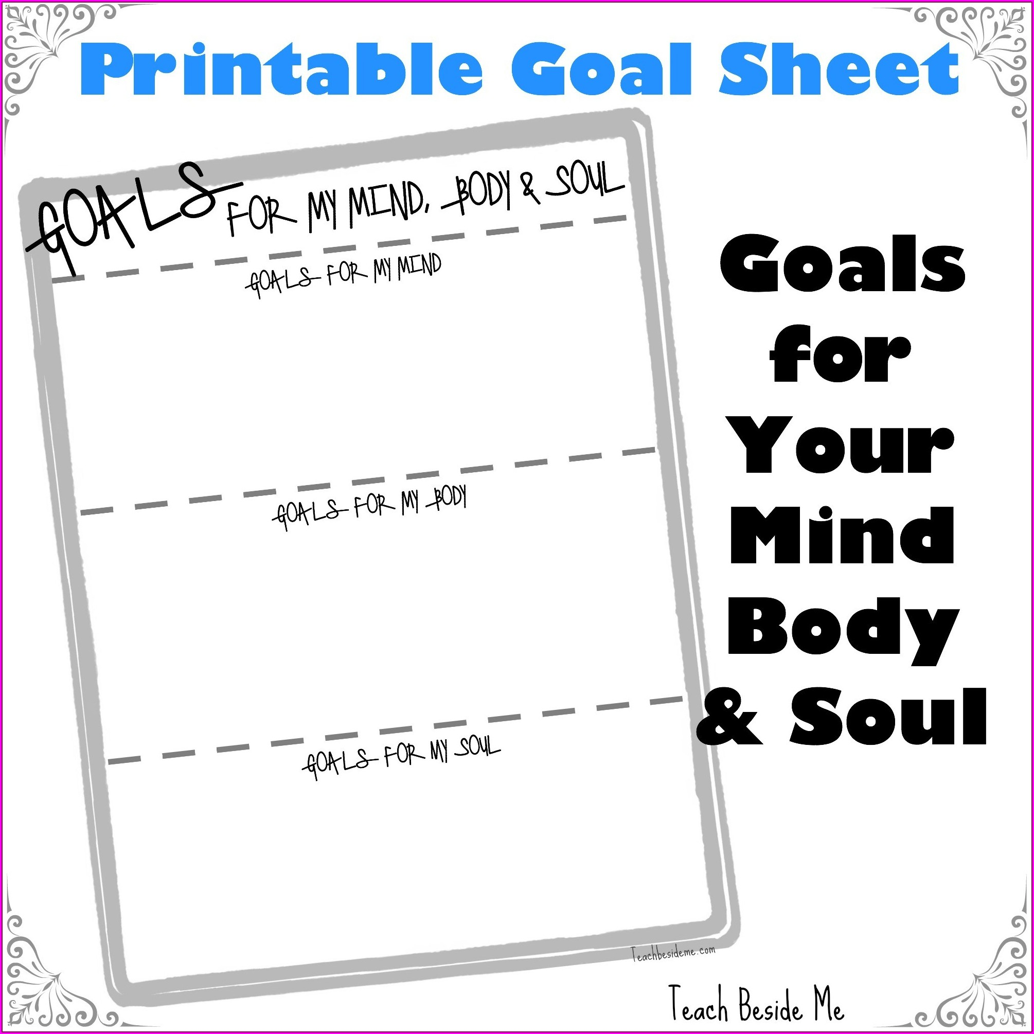Goal Setting Worksheet For Teachers