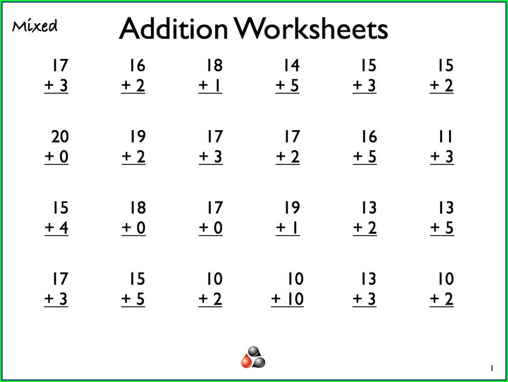 Grade 1 Addition 1st Grade Math Worksheets