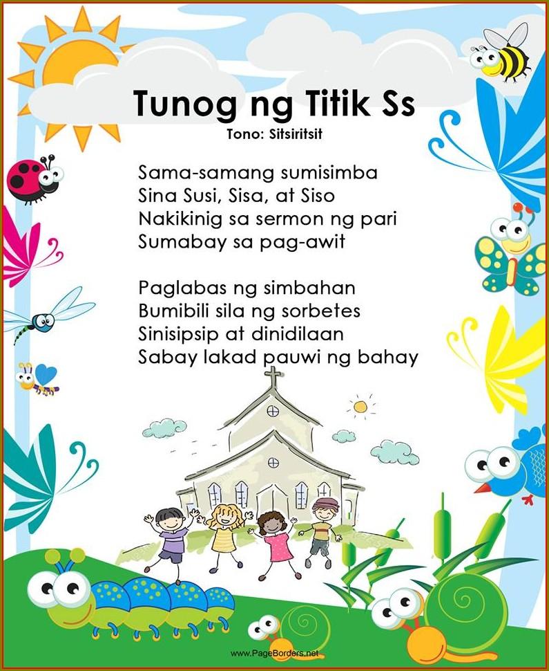 Grade 1 Reading Worksheets Tagalog