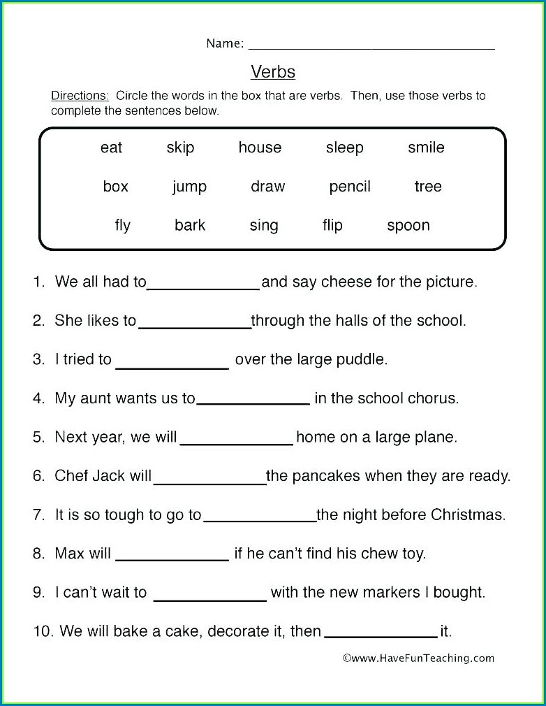 Grade 2 Adverbs Worksheet