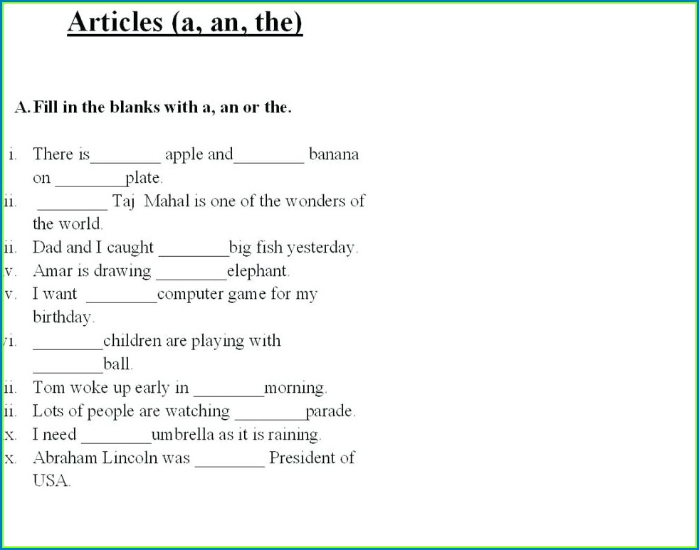Grade 2 English Reading Worksheets