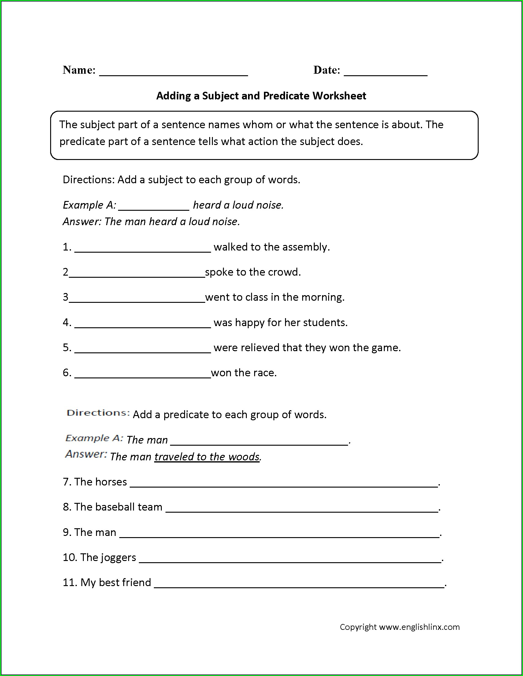 Grade 2 English Vocabulary Worksheets