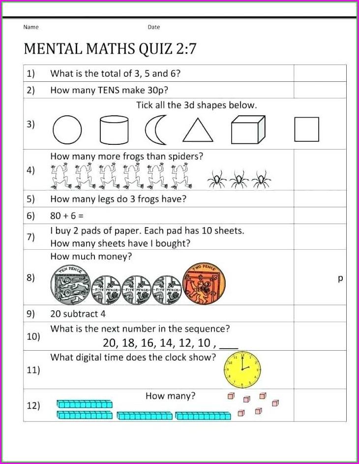 Grade 2 Math Worksheets 3d Shapes