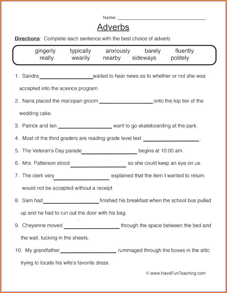 Grade 3 Descriptive Adjectives Worksheet Pdf