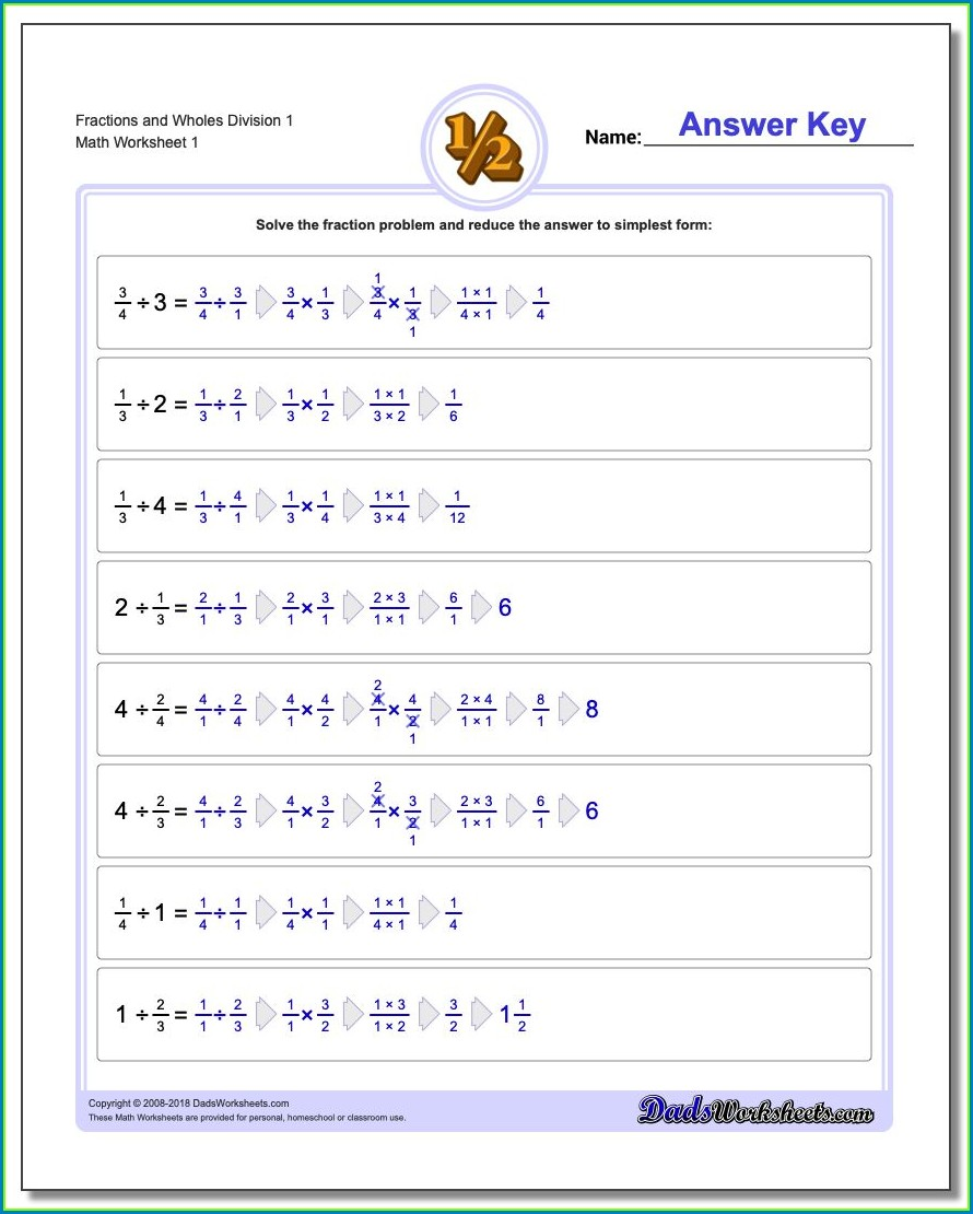 Grade 3 Dividing Whole Numbers Worksheets
