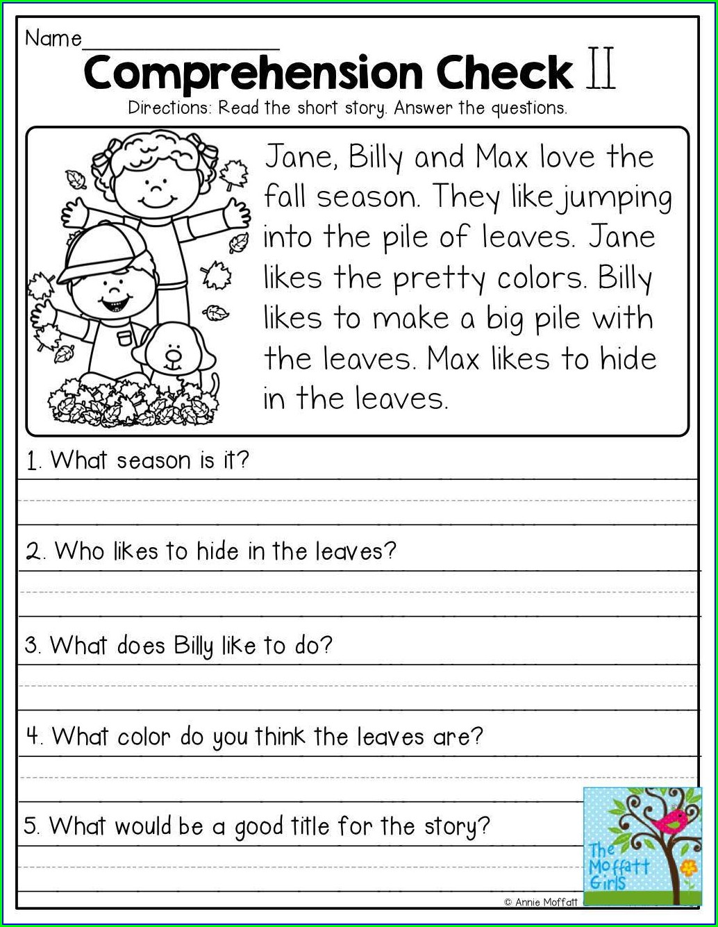 Grade 3 English Worksheets Comprehension