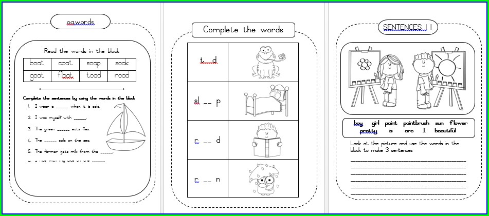 Grade 3 English Worksheets Term 1