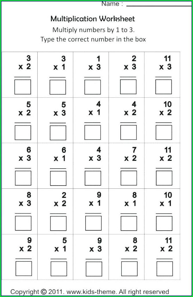 Grade 3 Math Worksheets Multiplication And Division
