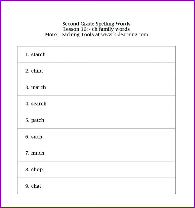 Grade 4 4th Grade Spelling Worksheets
