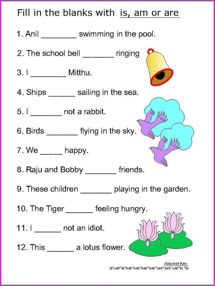 Grade 4 English Worksheet Verbs