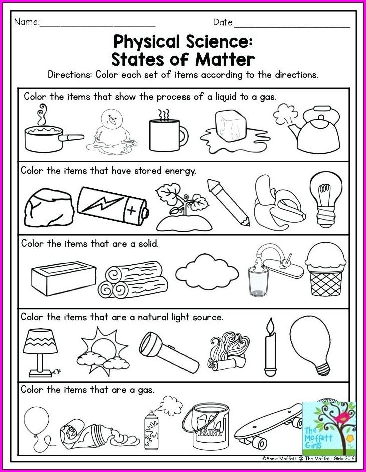 Grade 4 Natural Science Worksheets