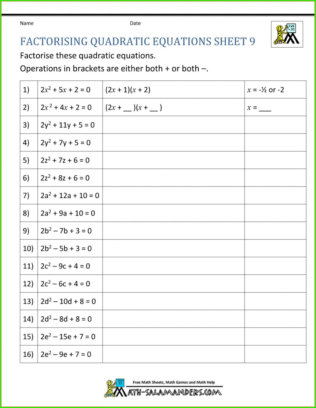 Grade 8 Math Patterning And Algebra Worksheets