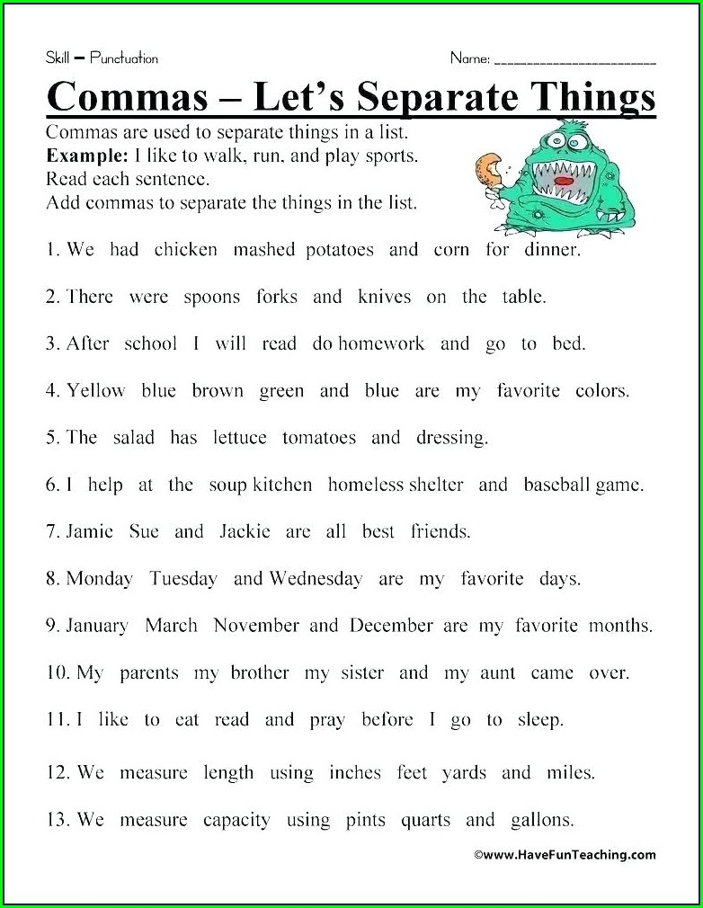 Grammar 8th Grade English Worksheets