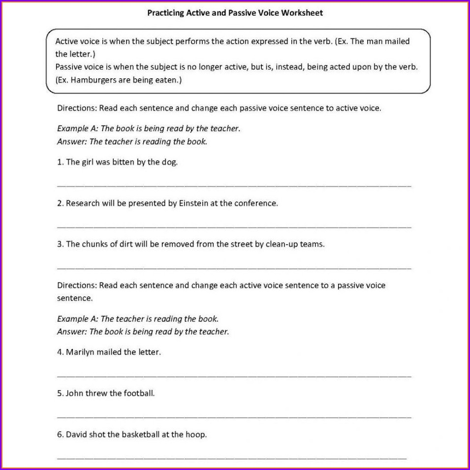 Grammar English Worksheet For Grade 6