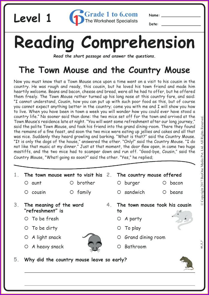 Grammar English Worksheet For Grade 7