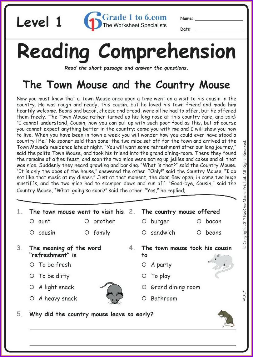 Grammar English Worksheet For Grade 7