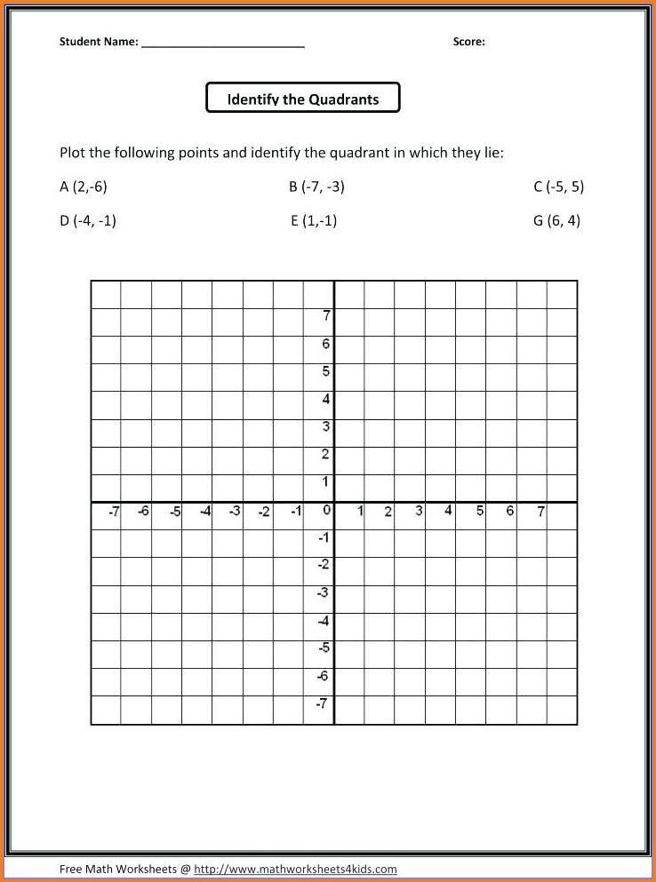 Grid Map Worksheets 3rd Grade