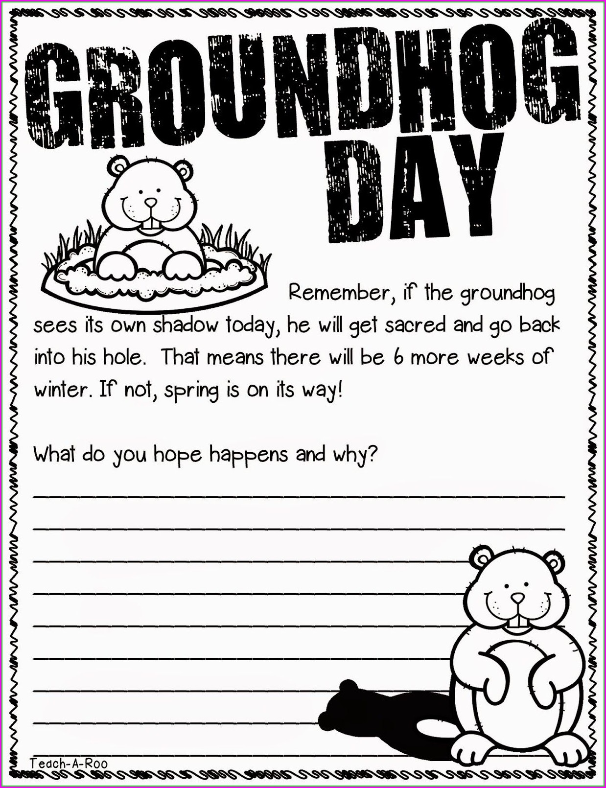 Groundhog Day Lesson Plans 2nd Grade