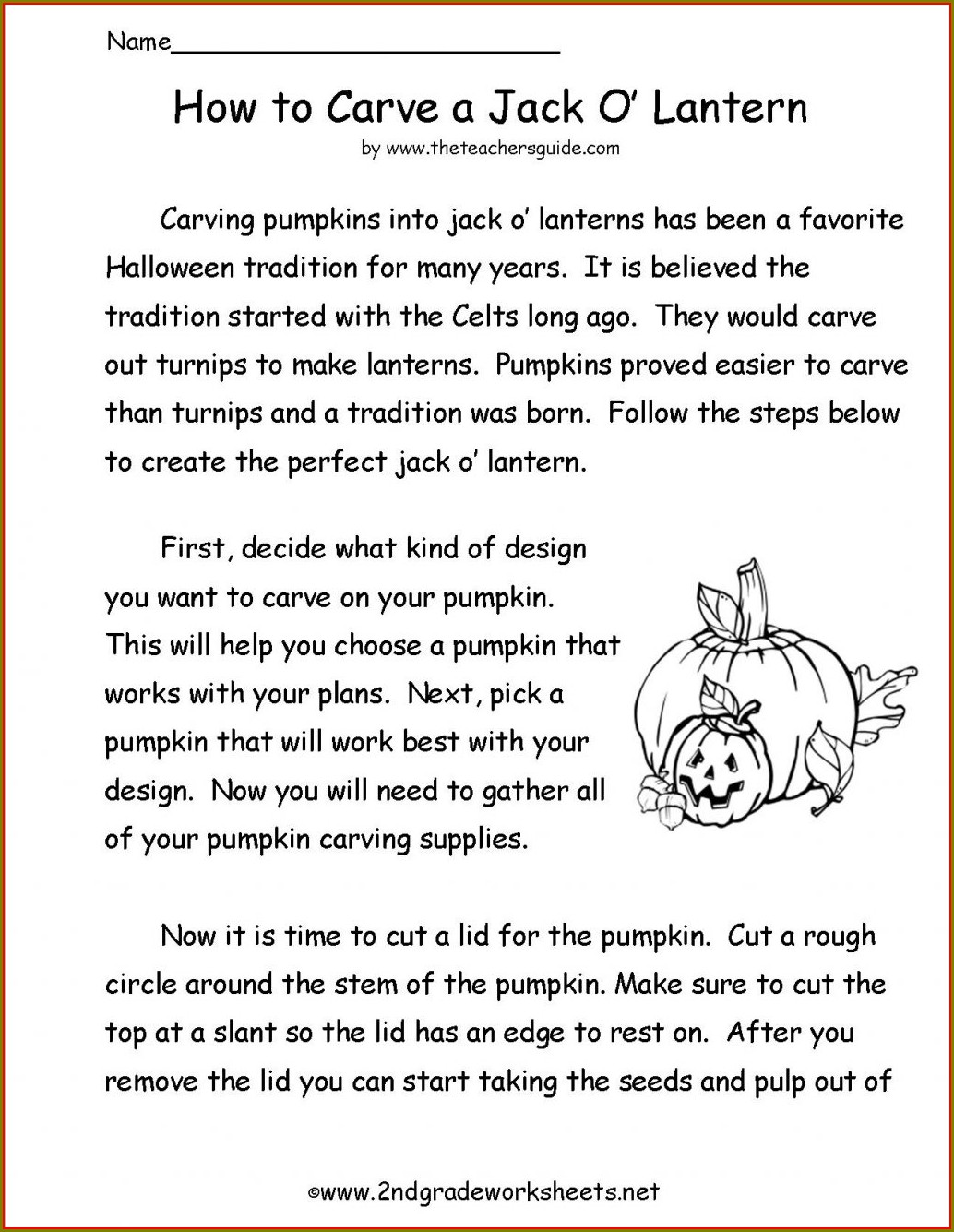 Halloween Worksheets Second Grade Free