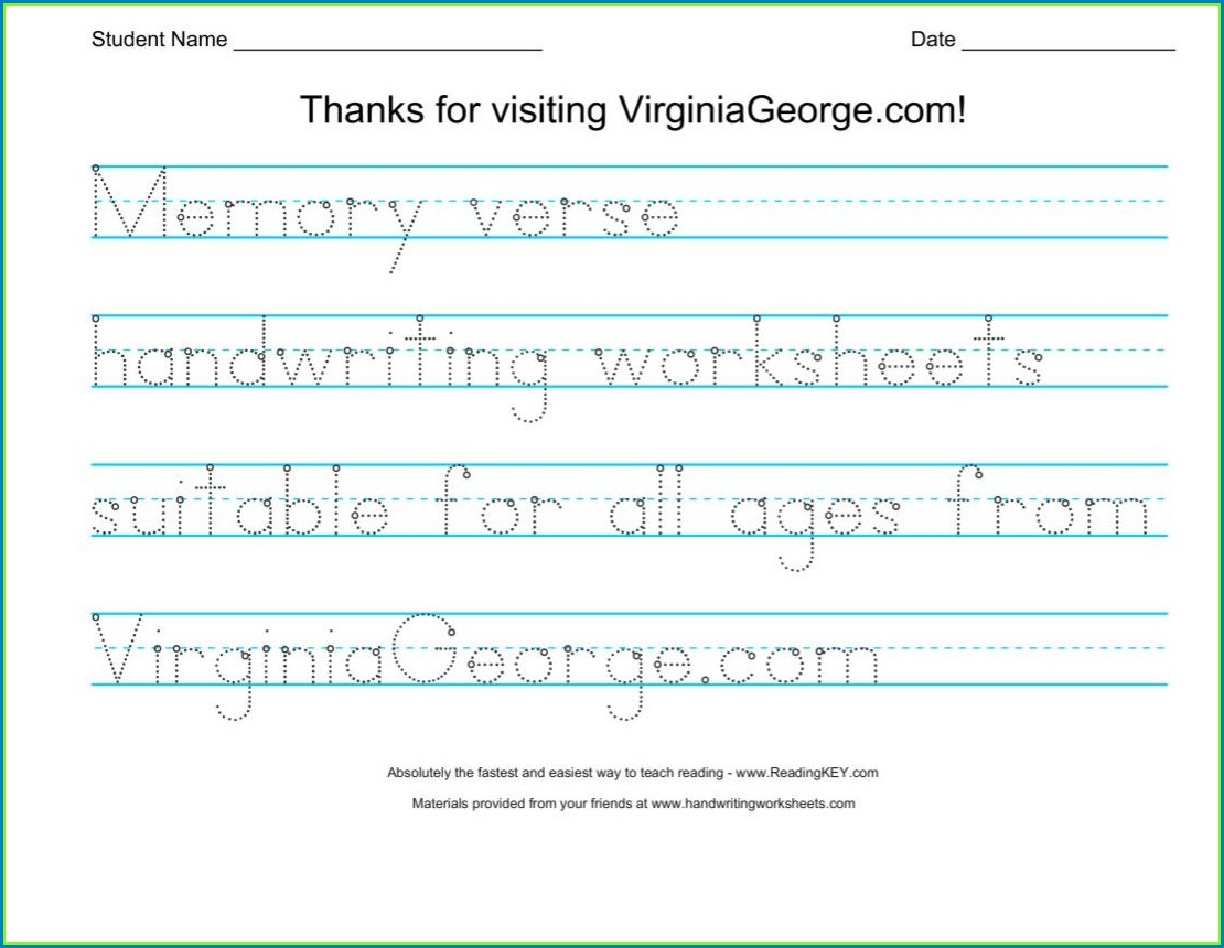 Handwriting Worksheet Maker Software Free Download